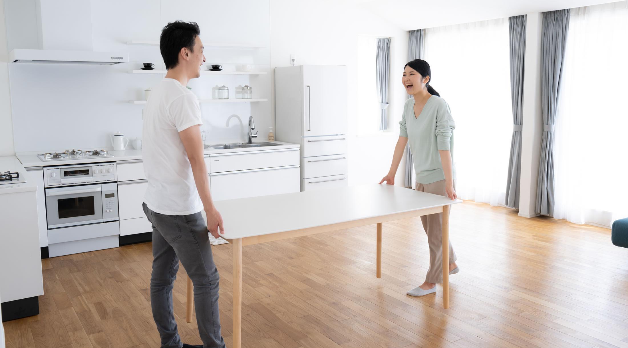 新居 引っ越し 夫婦
