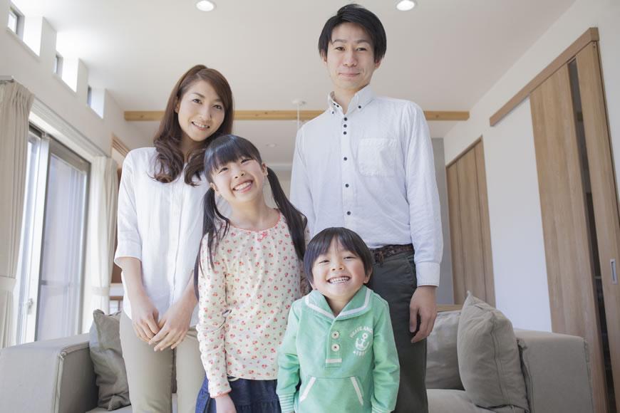 笑顔の家族 マイホーム